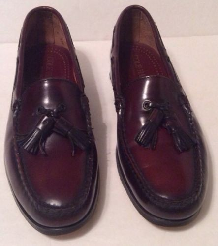 Cole Haan Pinch Tassel Leather Loafer Dress Shoe Sz 11 Burgundy)