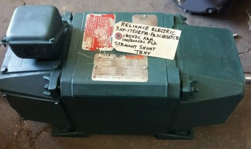 Reliance DC motor, 3hp, Frame DC1811ATCZ, 1750 rpm, TENV,180v
