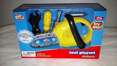 Play Right Tool Playset Chainsaw Toy Gift