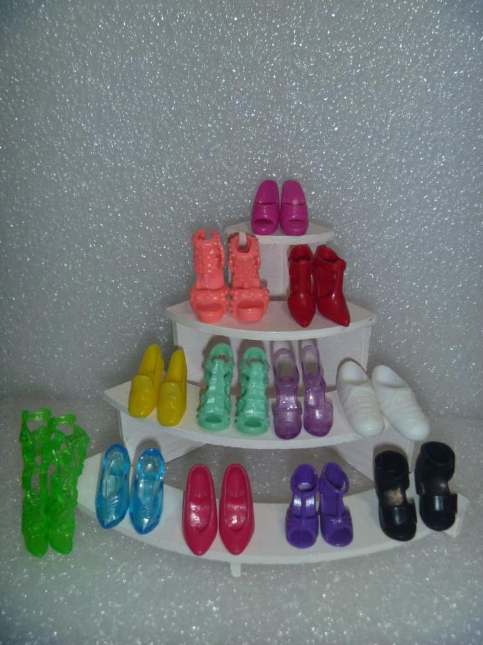 Barbie Shoes - One Dozen All Different Styles and  Colors 12P2