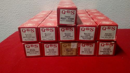 Vintage QRS piano rolls player mickey mouse, polka lot
