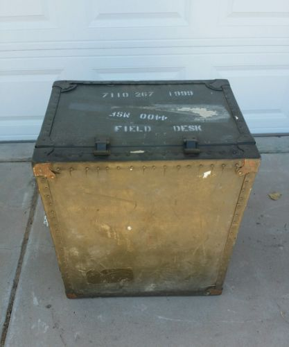 USED US Military GI Field Desk Army USMC Industrial Steampunk Vintage Decor