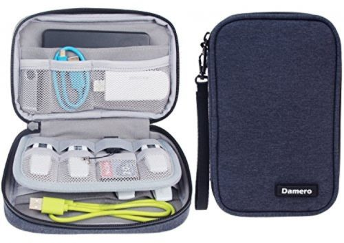 Damero USB Flash Drive Case Bag Wallet , SD Memory Cards Cable Gadget Case For