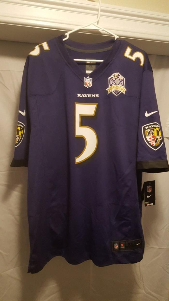 Brand New NFL Nike Mens Xl Ravens Jersey