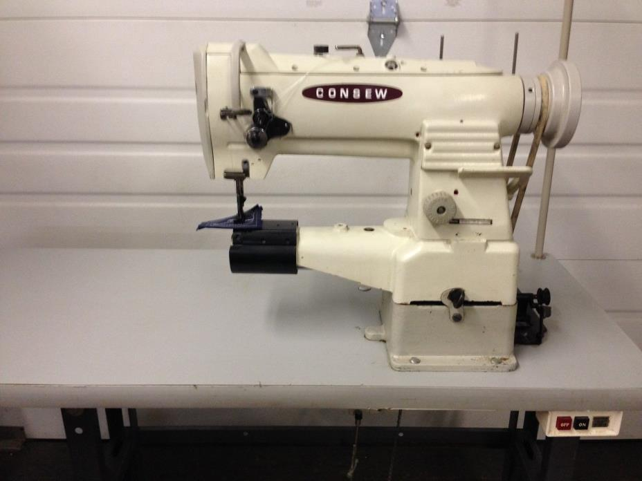 CONSEW  287-BB  CYLINDER BED WALKING FOOT REVERSE 110V INDUSTRIAL SEWING MACHINE