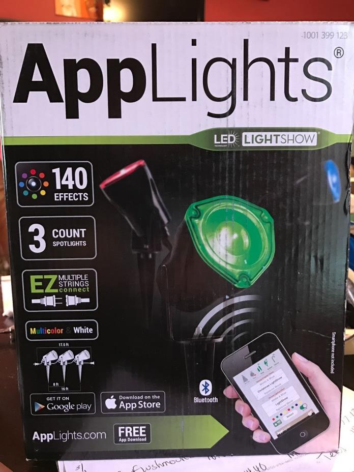 LightShow AppLights LED RGB Spotlight Stake (Set of 3 Spotlights) 38874 --670