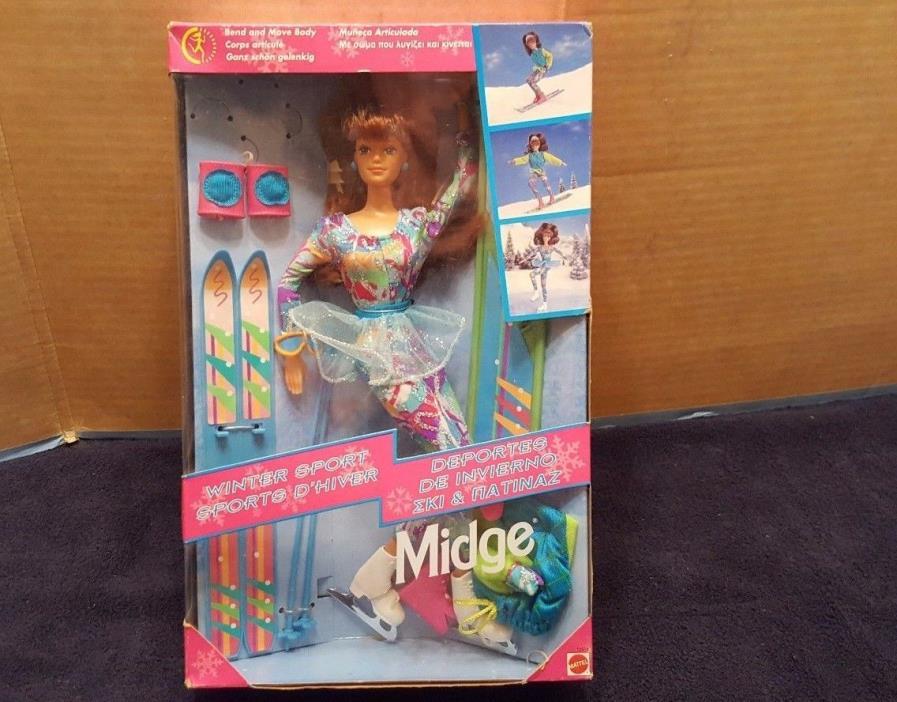 Barbie Doll Vintage Winter Sports Midge #13514 1994 Mattel NIB