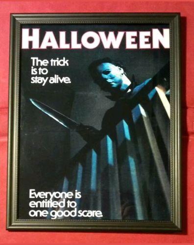 Halloween Michael Myers Movie Poster Framed Art Print Horror Memorabilia Gift
