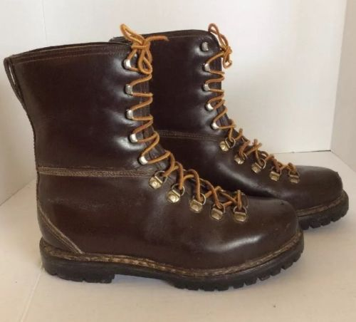 Vintage Men's Ortho Vent 1950's Leather  Work Boots Size 9 EE Wide Brown Lace Up
