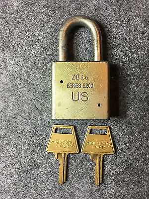 American Lock Padlock Series 5200 NEW With 2 Keys