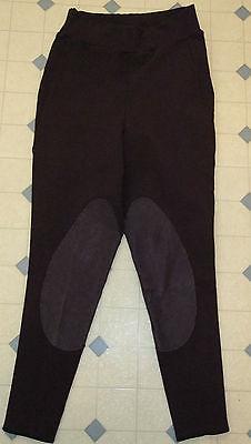 Equissentials Women's BREECHES, Plum Purple w/Deerskin Leather, Riding Pants