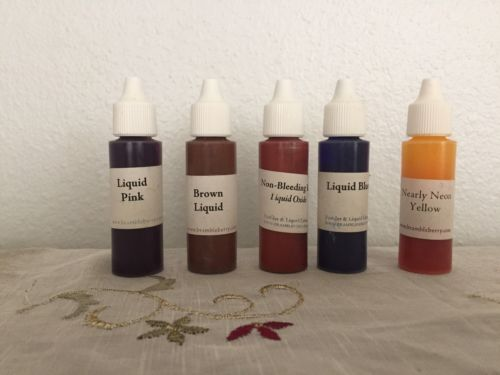 5 x 1oz Color Liquid Pink Blue Red Yellow Soap Lotion Making Supplies