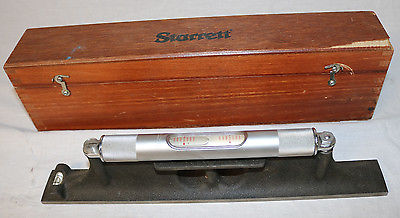 Vintage STARRETT No.98-12  Series Machinist's Level 12 inch Wood Case