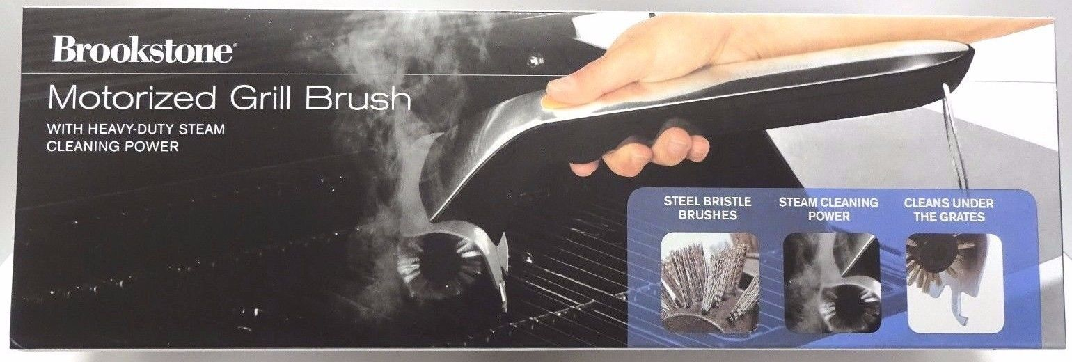 Brand New Brookstone Motorized BBQ Grill Brush NIB