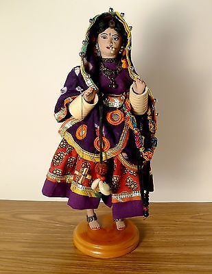Vintage Handcrafted India Traditional Doll Figurine