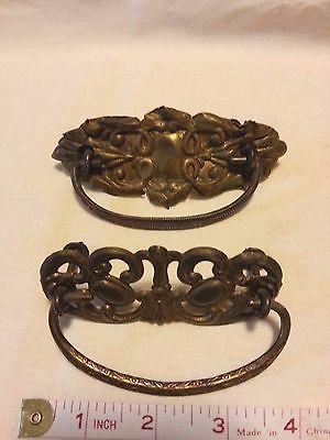 Lot of2 different Antique Brass Drop Bail Drawer Pulls