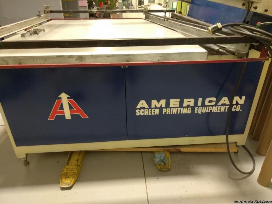 Silk Screen Printing Press