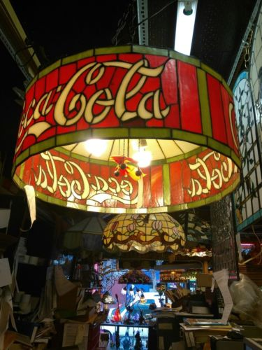 stained glass cocacola lamp shade
