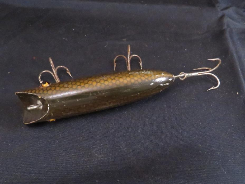 Vintage South Bend Bass Oreno Fishing Lure Scale Finish Glass Eyes