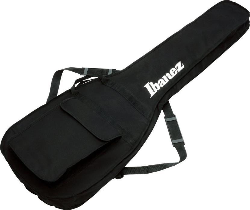 Ibanez IBB101 BK Electric Bass Guitar Gig Bag Soft Case, Shoulder Pads, Pocket