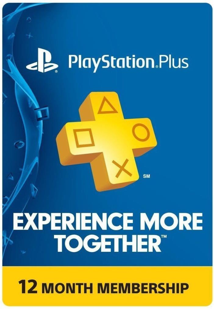 PlayStation PLUS Membership - Subscription 1 Year 12 Month - PSN PS3 PS4 SALE!!!