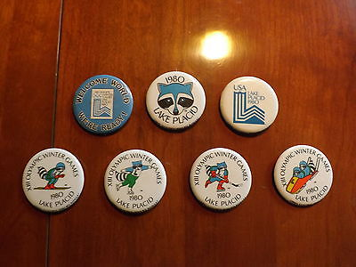 LOT OF 7 LAKE PLACID WINTER OLYMPIC PINS