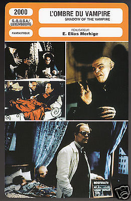 SHADOW OF THE VAMPIRE (2000) John Malkovich Willem Dafoe CINEMA MOVIE PHOTO CARD