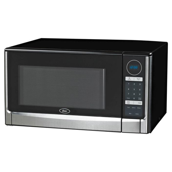 Oster 1.6 Cu. Ft. 1100 Watt Digital Microwave Oven -Black OGYZ1602B Turntable T