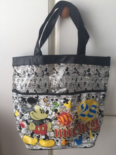 Mickey Mouse Comic Strip 28 Clear Plastic Tote Bag Purse