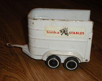 Vintage Tonka Stables Toy Horse Trailer 52620  Pressed Metal