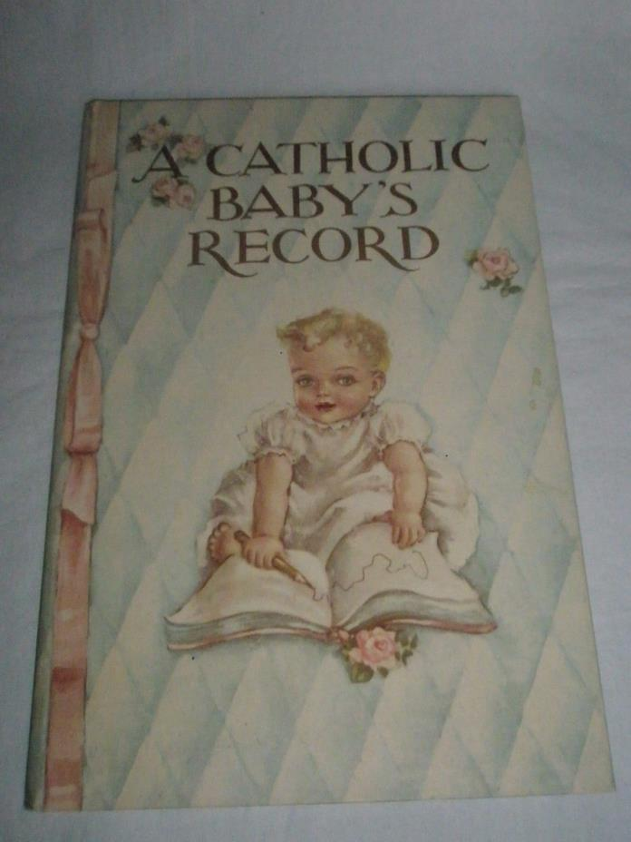 Vintage 1945 Catholic Babys Record Book  by Janet Robson Never Used