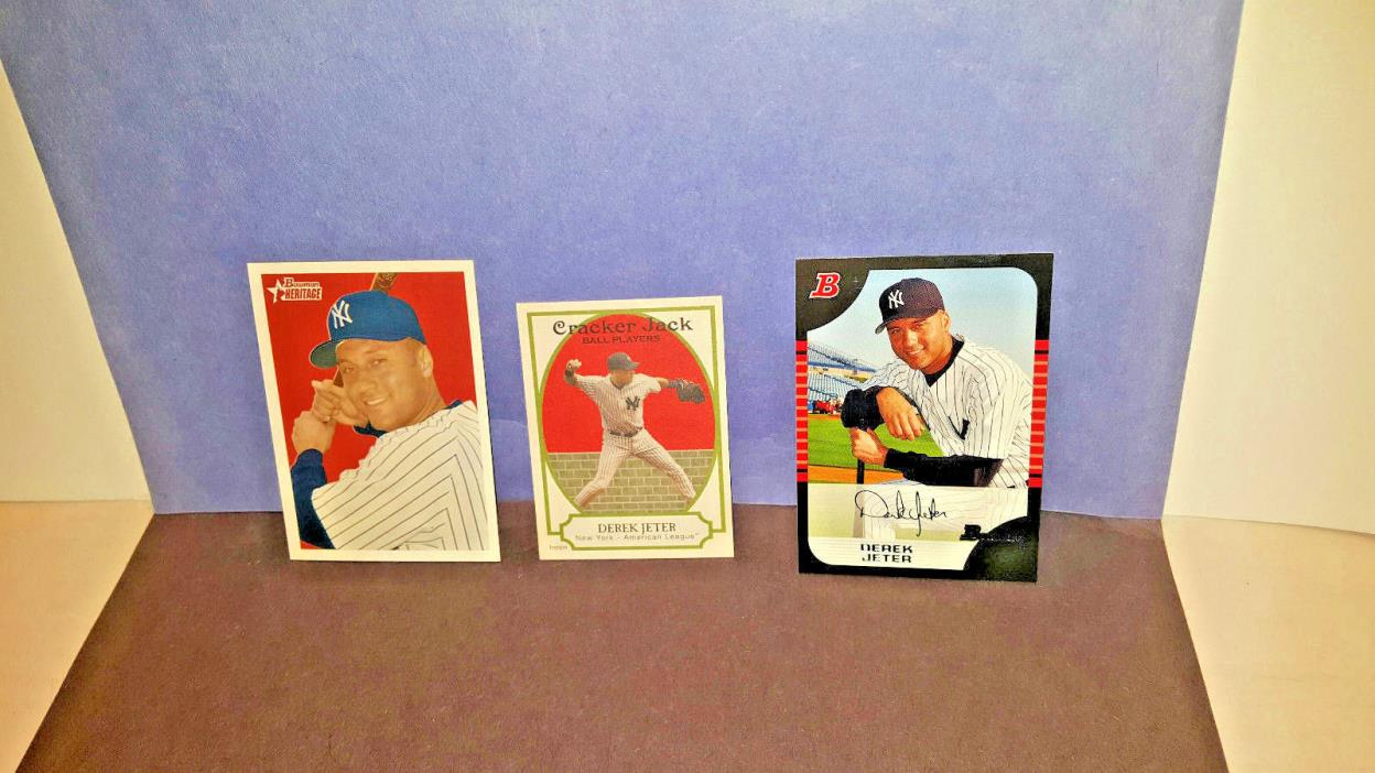 Derek Jeter Baseball cards lot Yankees , nm-mt