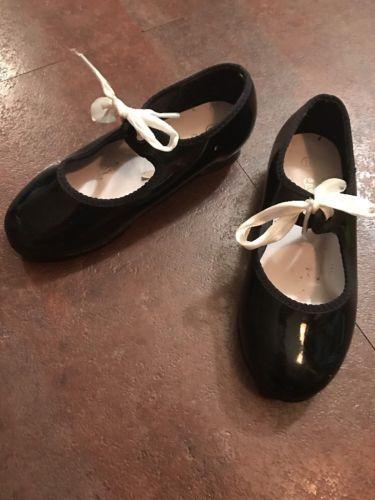 Toddler Girls Black SPOTLIGHTS Tap Shoes Size 10