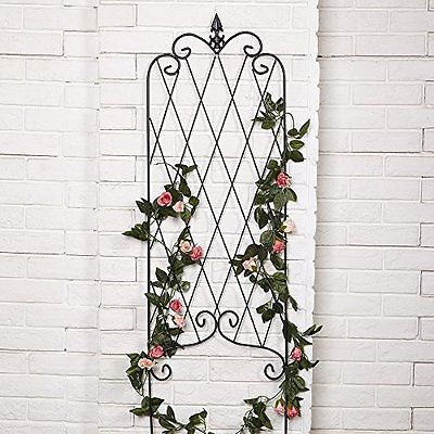 Metal Flower Rack Trellis Panel Arch Rustic Garden Plants Vegetable Climbling