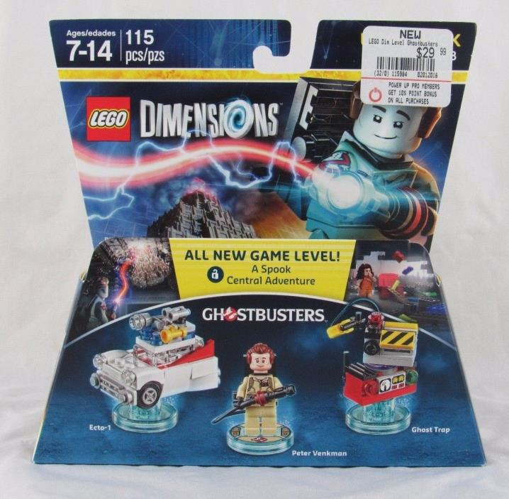 Ghostbusters Lego Dimensions Level Pack Peter Venkman, Ghost Trap, Ecto 1