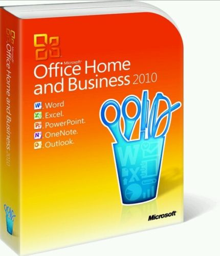 Microsoft Office 2010 Home and Business For 1 User Windows PC with Install Media