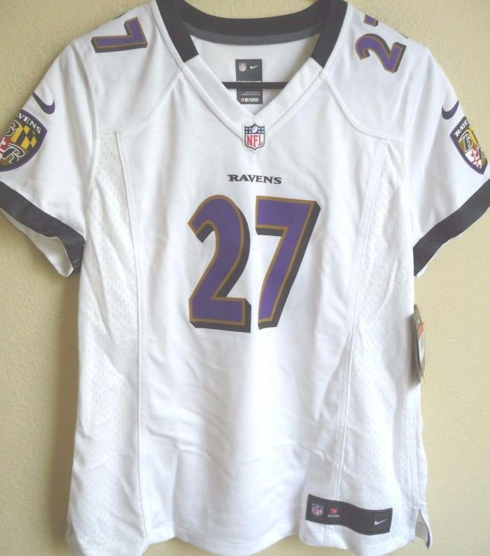 Women's NFL Baltimore Ravens Football Ray Rice #27 Game Jersey L NEW