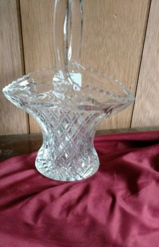 Vintage crystal Basket Large