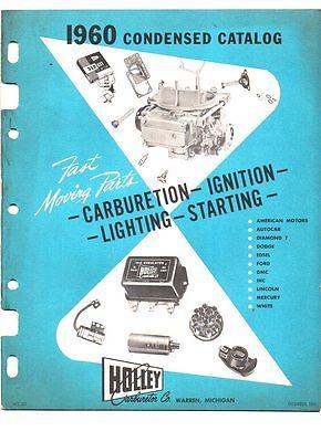 Holley carburetion/ignition catalog 1960