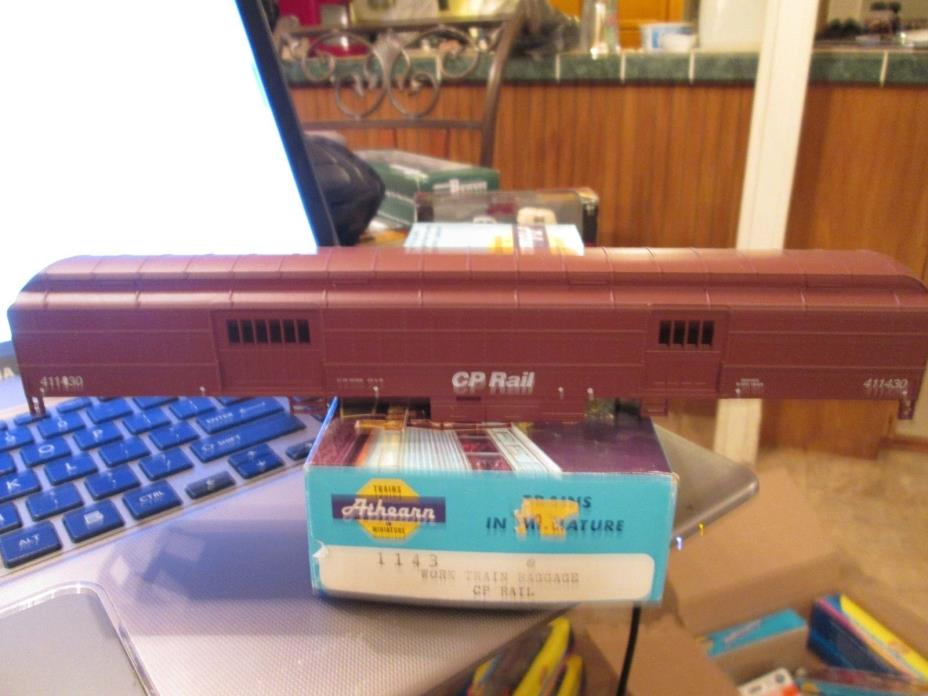 2ND CP RAIL WORK TRAIN BAGGAGE  KIT car ho1/87-ATHEARN M.O.W.RD #411430 4 LAYOUT