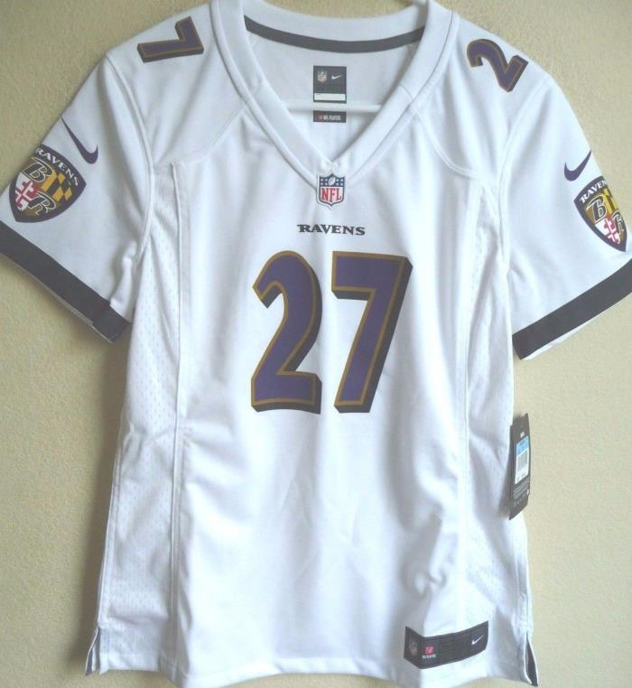 Women's NFL Baltimore Ravens Football Ray Rice #27 Game Jersey M NEW
