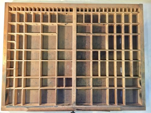 Vintage Printer's Drawer/Tray/Shadow Boxes