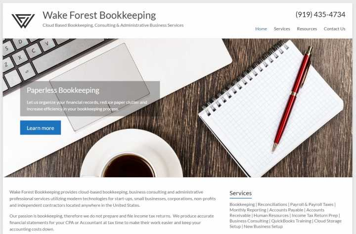 Wake Forest Bookkeeping - FREE CONSULTATION