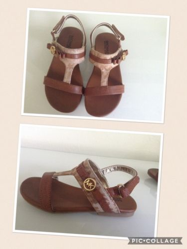NWB GIRLS TODDLERS  MICHAEL KORS BROWN COLOR SANDALS SZ 10