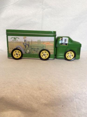 John Deere Green Truck Tin