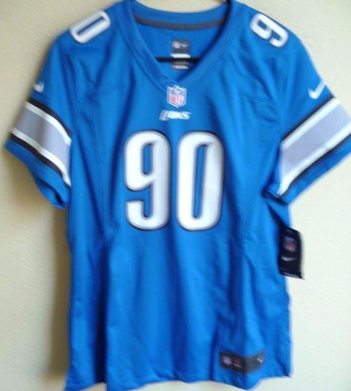 Women's NFL Detroit Lions Football Ndamukong Suh #90 Game Jersey XL NEW