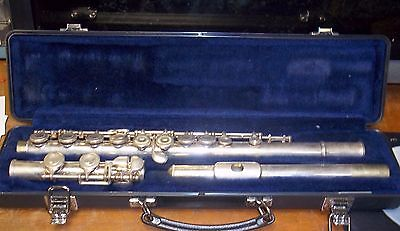 Selmer 1206 Silver Plated Student Flute case & cleaning rod