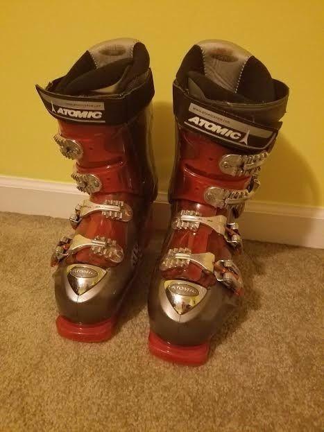 Atomic Beta Ride 10.5 Men's Ski Boots Used Size 26.5