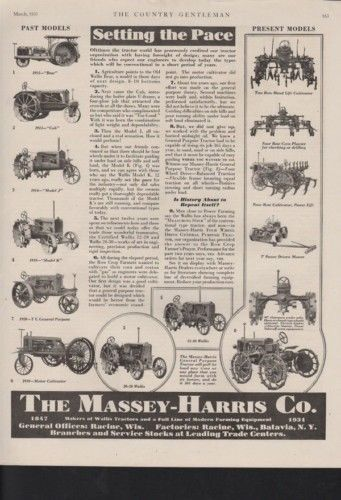 1931 MASSEY HARRIS TRACTOR FARM AGRICULTURE IMPLEMENT 10389