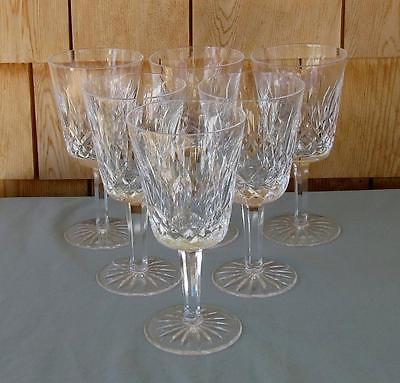 6 WATERFORD LISMORE WATER GOBLETS